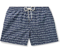 Arlen Slim-Fit Short-Length Printed Swim Shorts
