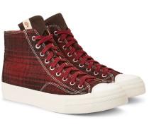 Skagway Suede-trimmed Checked Wool High-top Sneakers