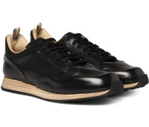 Keino Polished-leather Sneakers