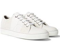 Cap-toe Panelled Suede And Leather Sneakers