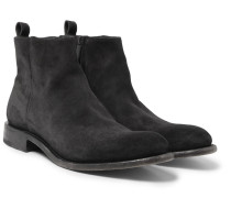 Washed-suede Boots