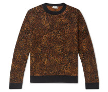 Metallic Leopard Jacquard Sweater