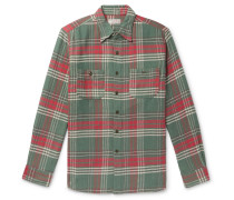 Wallace & Barnes Checked Slub Cotton-Flannel Shirt