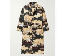 Belted Quilted Printed Cotton Robe