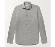 Puppytooth Cotton-Flannel Shirt