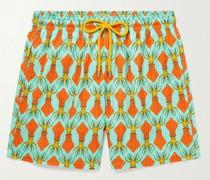 Mahina Printed Mid-Length Swim Shorts