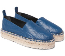 Creased-leather Espadrilles
