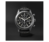 Navitimer 8 Automatic Chronograph 43mm Black Steel and Leather Watch, Ref. No. M13314101B1X1