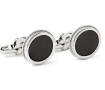 Palladium-plated Onyx Cufflinks