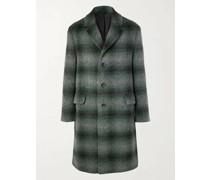 Checked Brushed Virgin Wool and Llama Hair-Blend Coat