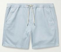 Gregor Stretch-Cotton Twill Drawstring Shorts