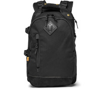 Suede-trimmed Nylon Backpack