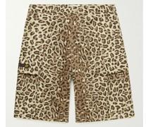 Jungle 01 Leopard-Print Cotton-Twill Cargo Shorts