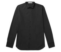Slim-Fit Wing-Collar Bib-Front Cotton Shirt