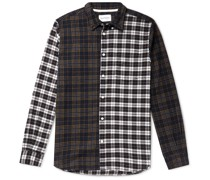 Osvald Button-Down Collar Checked Brushed Cotton-Flannel Shirt