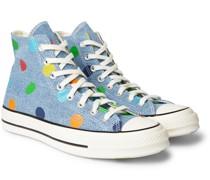 + Golf Wang Chuck 70 Polka-Dot Denim High-Top Sneakers