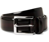 3cm Burnished Leather Belt