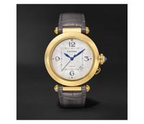 Pasha de Cartier Automatic 41mm 18-Karat Gold and Alligator Watch, Ref. No. WGPA0007