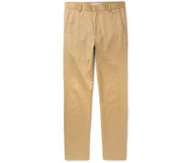 Alfred Slim-fit Cotton-blend Twill Trousers