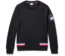 Stripe-trimmed Cotton-blend Piqué Sweatshirt