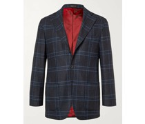 Prince of Wales Checked Virgin Wool, Silk and Cashmere-Blend Blazer