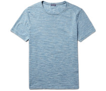 Space-dyed Knitted Cotton T-shirt