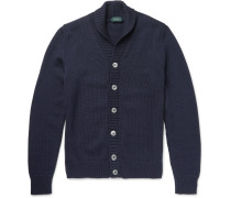 Shawl-collar Virgin Wool Cardigan