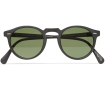 Gregory Peck Round-frame Matte-acetate Sunglasses