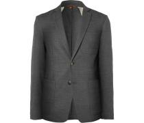 Slim-Fit Unstructured Wool-Blend Blazer