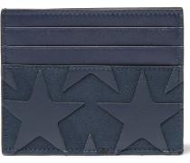 Star-appliquéd Canvas And Leather Cardholder