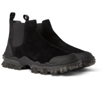Hayden Stivale Rubber-Trimmed Suede Boots