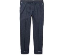 Slim-fit Drawstring Denim Trousers