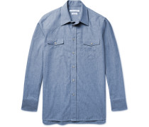 Slim-fit Cotton-chambray Western Shirt