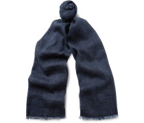 Dorset Linen And Baby Cashmere-blend Scarf