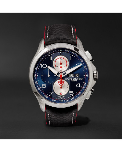 Clifton Club Shelby Cobra Chronograph 44mm Stainless Steel and Leather Watch, Ref. No. 10343