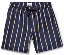 Timothy Mid-length Striped Swim Shorts