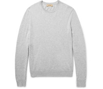 Elbow-patch Cashmere And Cotton-blend Sweater
