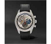El Primero Chronomaster 1969 Stainless Steel And Alligator Watch