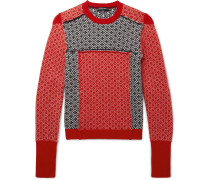 Slim-fit Fair Isle Patchwork Wool And Cashmere-blend Sweater