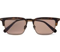 D-frame Tortoiseshell Acetate And Bronze-tone Sunglasses