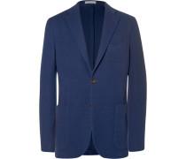 Blue Slim-fit Virgin Wool Blazer