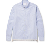 Button-down Collar Shell-trimmed Cotton Oxford Shirt