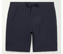 Wool and Cotton-Blend Drawstring Shorts