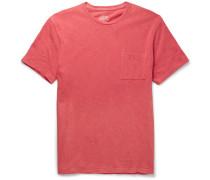 Slim-fit Garment-dyed Slub Cotton-jersey T-shirt