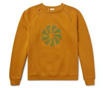 1960s Distressed Printed Fleece-back Cotton-jersey Sweatshirt