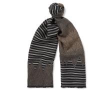 Dégradé Patterned Wool Scarf