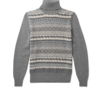 Fair Isle Cashmere And Silk-blend Rollneck Sweater