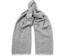 Fringed Mélange Wool-blend Scarf