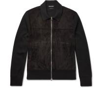 Suede-panelled Merino Wool Jacket
