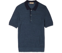 London Slim-fit Silk And Cotton-blend Piqué Polo Shirt